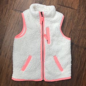 Cream and choral girls cozy vest